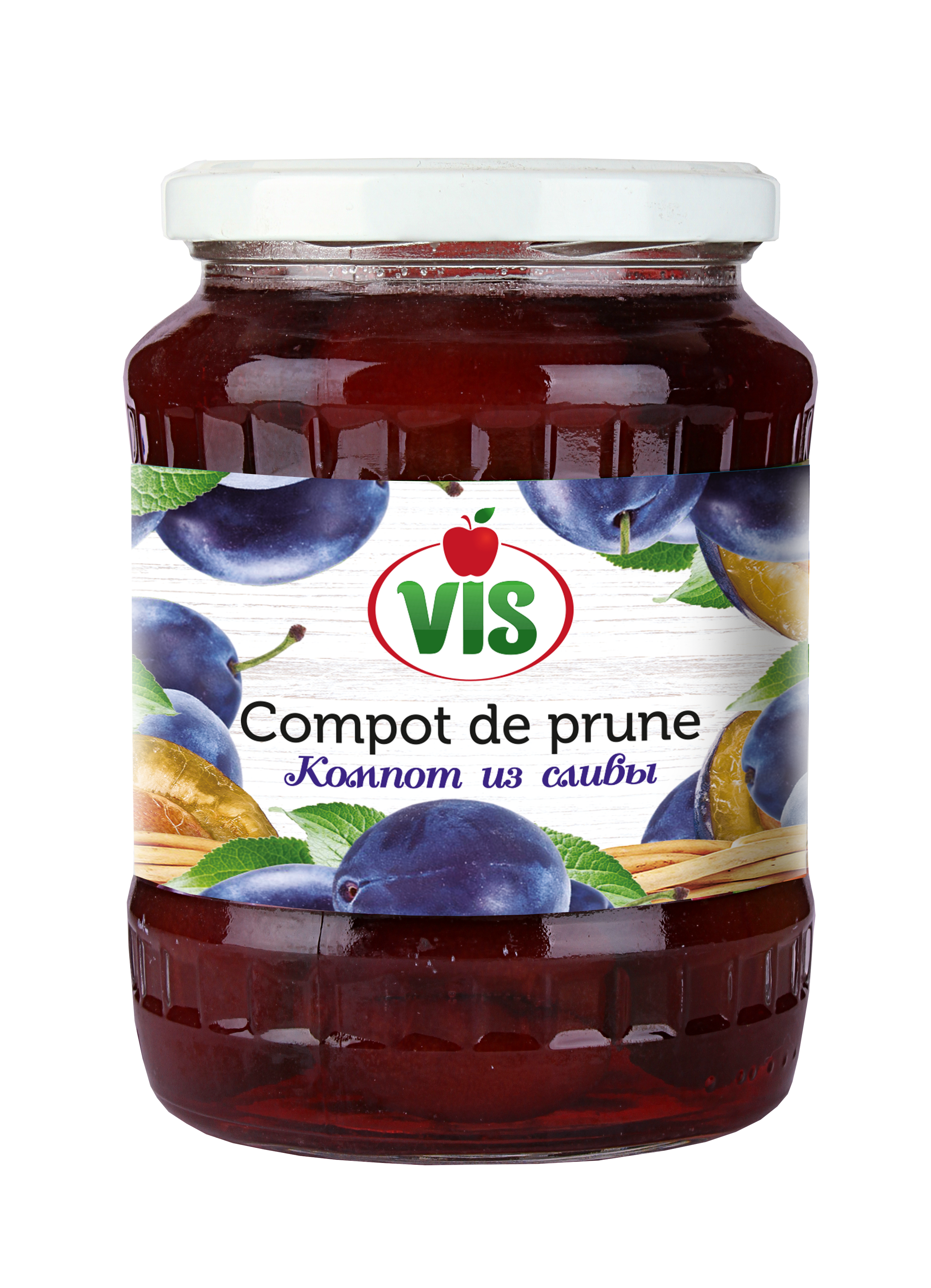 Plum compote for Prune en conserve